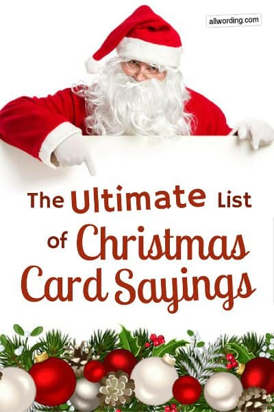 the ultimate list of christmas card sayings allwordingcom - Christmas Card Wording