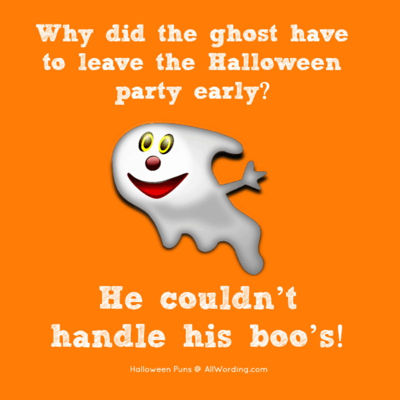 Why did the ghost have to leave the Halloween party early? He couldn't handle his boos!