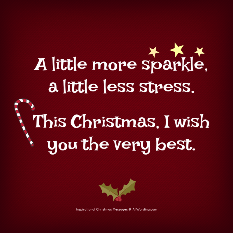 25 Inspirational Christmas Messages » AllWording.com