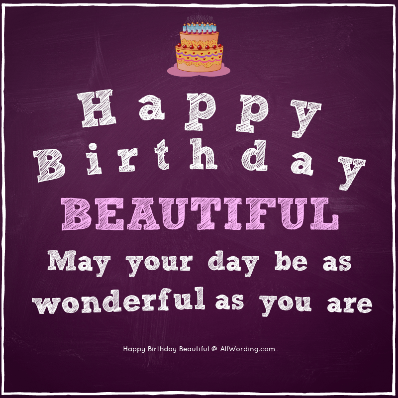 Magnificent Happy Birthday Beautiful 30 Sweet Birthday Wishes For Her Funny Birthday Cards Online Fluifree Goldxyz