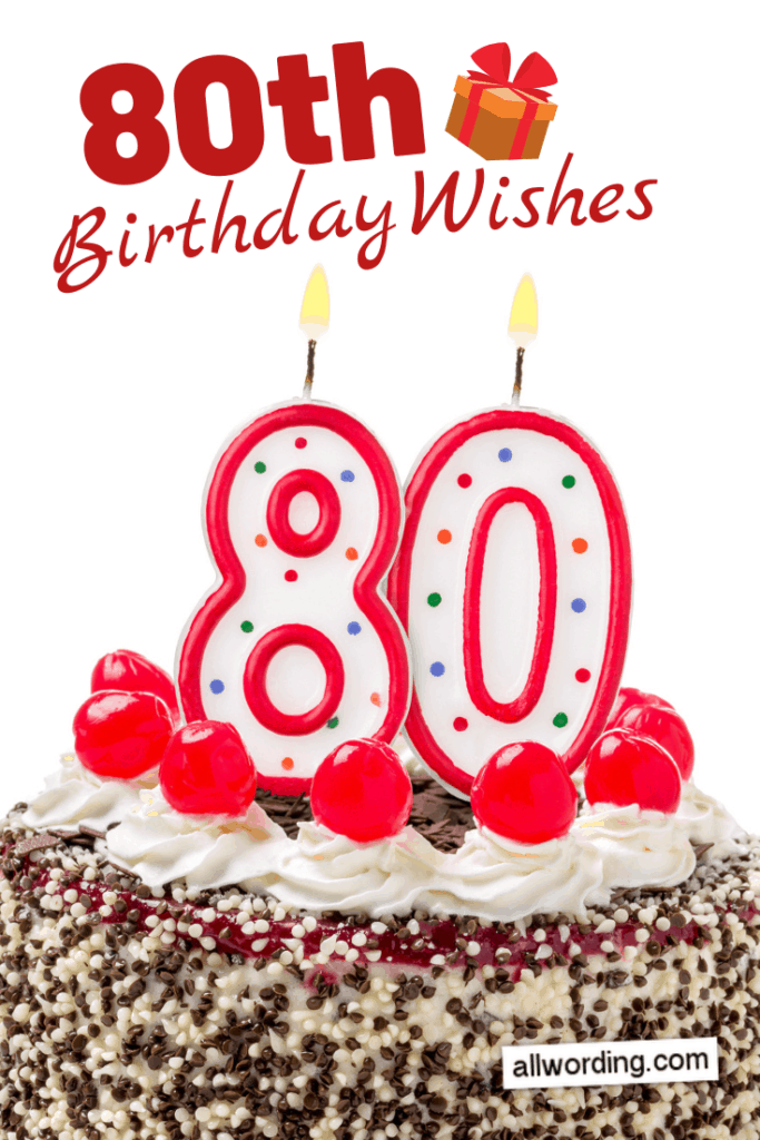 80th birthday wishes for friends and relatives
