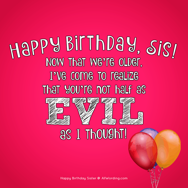 Cool Happy Birthday Sister 50 Birthday Wishes For Your Amazing Sis Funny Birthday Cards Online Inifofree Goldxyz