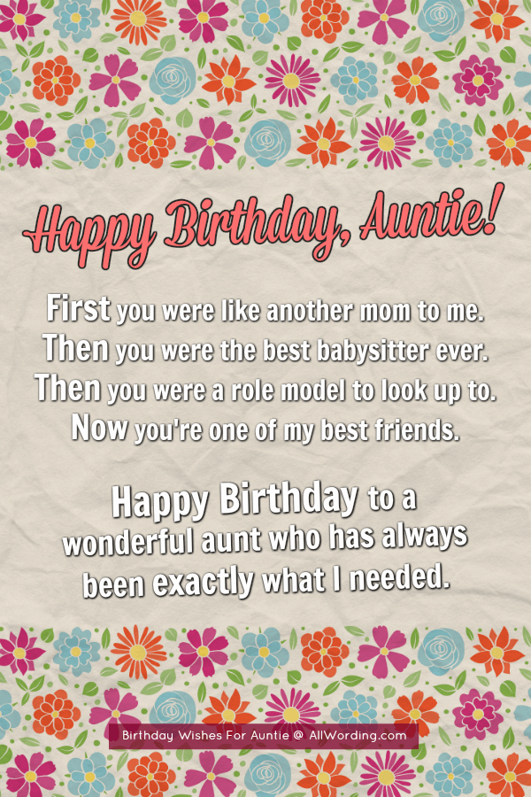 Happy Birthday, Auntie! 50+ B-Day Wishes For Your Beloved ...