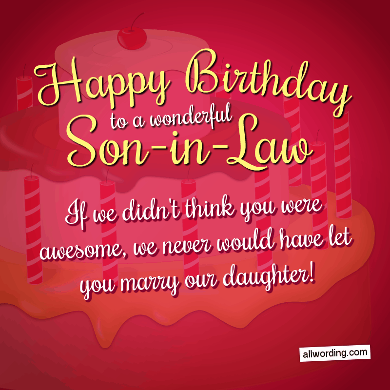 Astounding 30 Clever Birthday Wishes For A Son In Law Allwording Com Funny Birthday Cards Online Alyptdamsfinfo