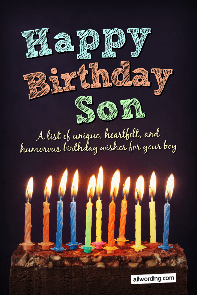 Outstanding Happy Birthday Son 50 Birthday Wishes For Your Boy Allwording Com Funny Birthday Cards Online Alyptdamsfinfo