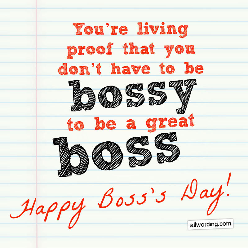 24 Unique Happy Boss's Day Messages » AllWording.com