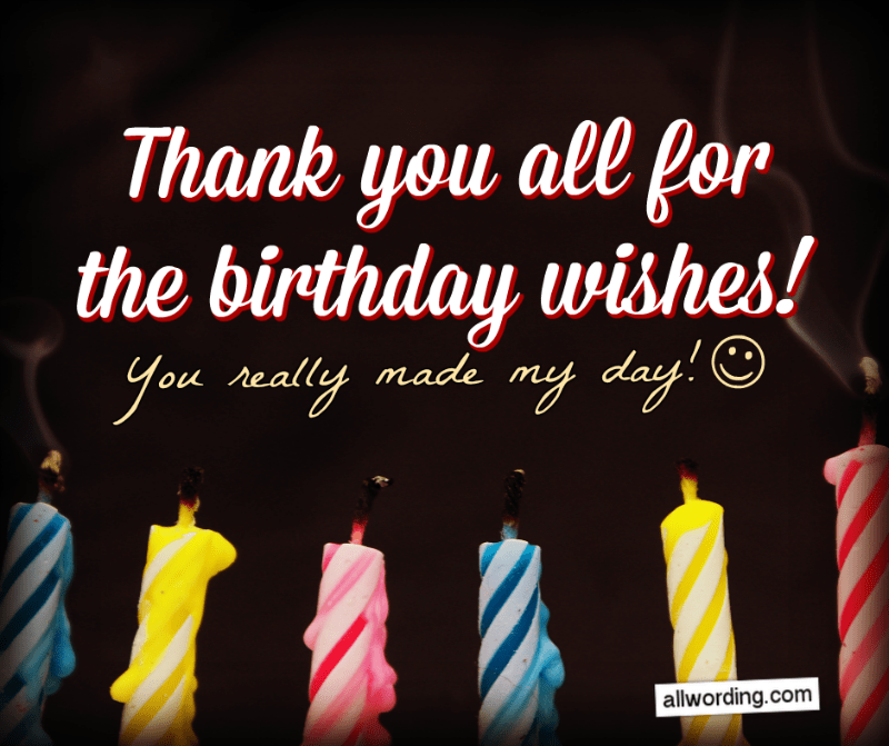 thank you for your birthday wishes images